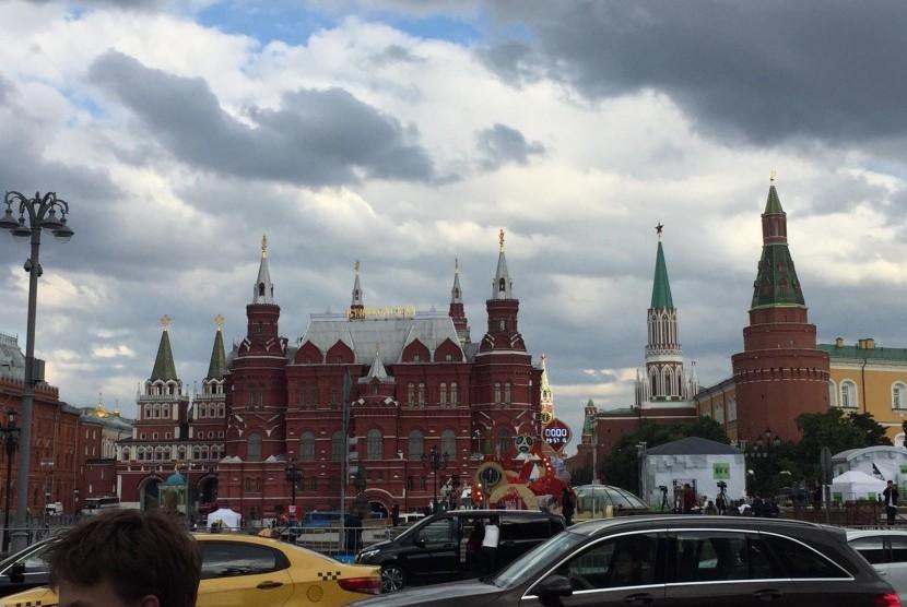 Kota Moskow, Rusia, pada Sabtu (16/6) siang.