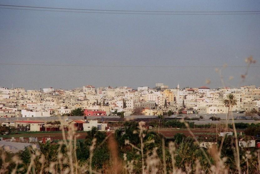 Kota Qalqilya di Tepi Barat Sungai Yordan, Palestina.