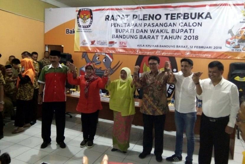 KPUD Bandung Barat Tetapkan Tiga Paslon Bupati-Wakil Bupati