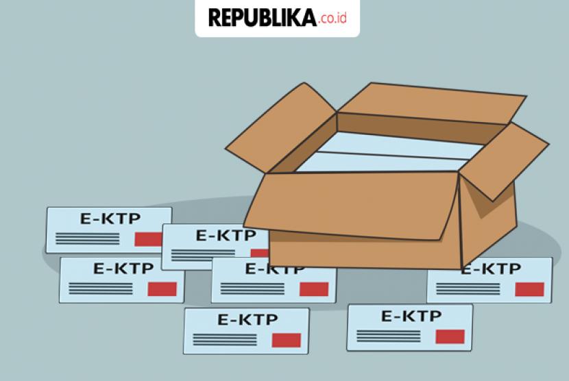 KTP-El tercecer (ilustrasi)