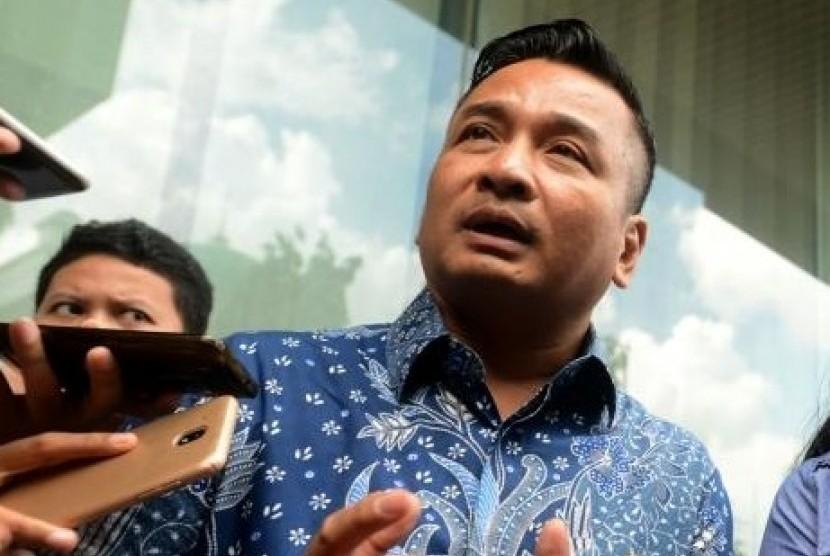 Kuasa hukum dari korban pelecehan seksual RA, Heribertus S. Hartojo, memberikan keterangan di Kantor Bareskrim Polri, Gambir, Jakarta, Rabu (2/1).