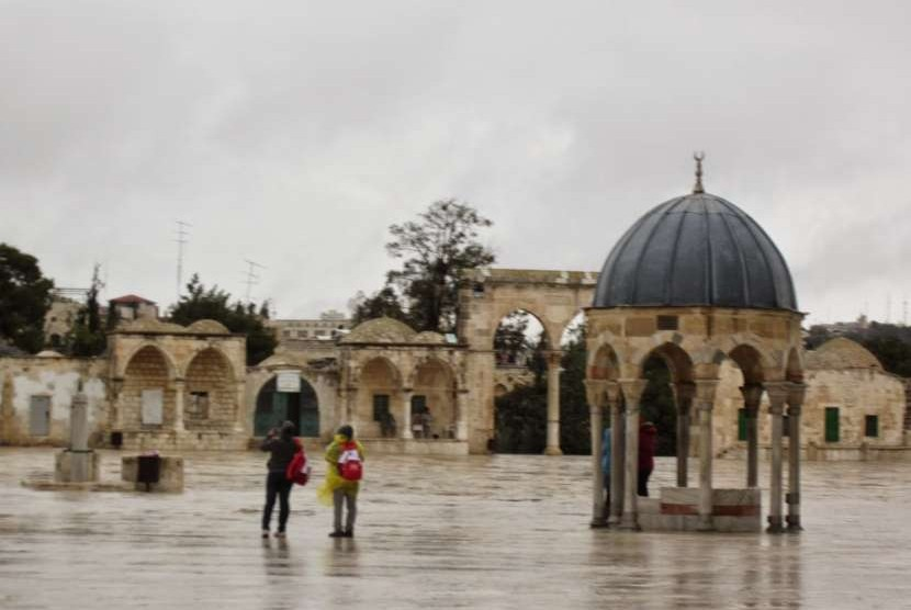Kubah Nabi, Kompleks Masjid Al Aqsha, Yerusalem, Palestina.