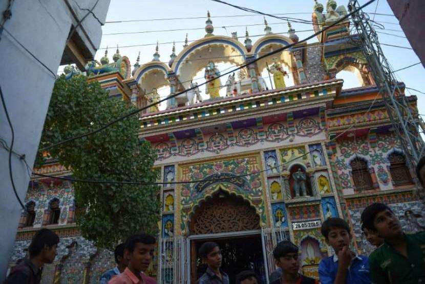 Kuil Hindu di Kota Mithi, Pakistan.
