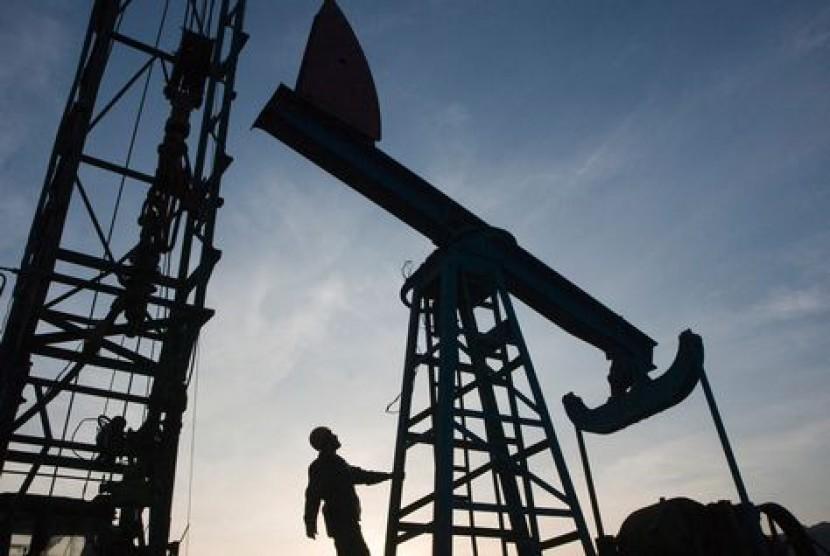 Ladang minyak di Saudi (ilustrasi).