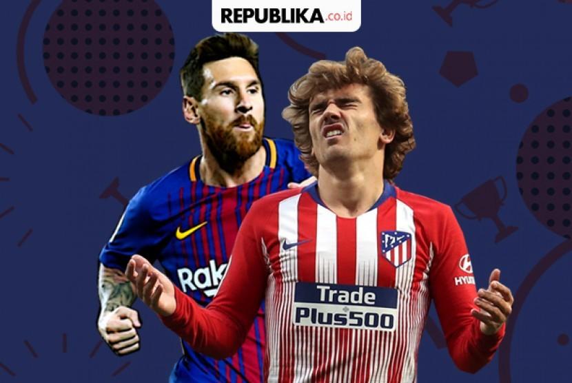 Laga pekan ke-31 La Liga Spanyol, Barcelona vs Atletico Madrid.