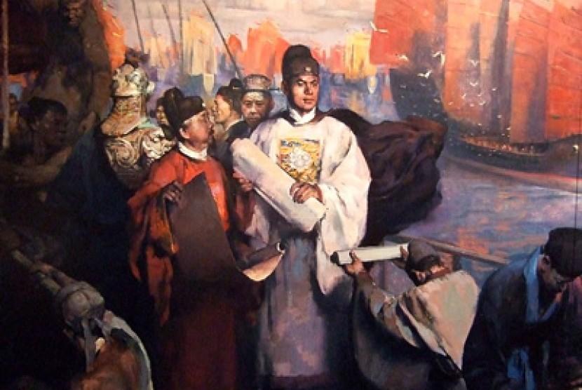 Laksamana Cheng Ho dan armadanya (ilustrasi).
