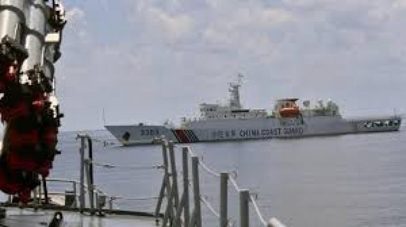 Kanal laut China di teilhat dari Kapal TNI AL di Luat China Selatan. (ilustrasi).