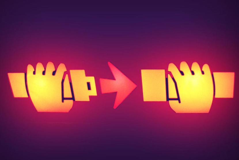 Lampu peringatan sabuk pengaman pesawat. Ilustrasi