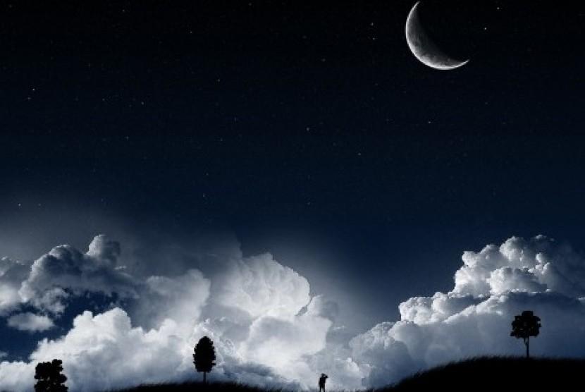 Langit malam (ilustrasi).