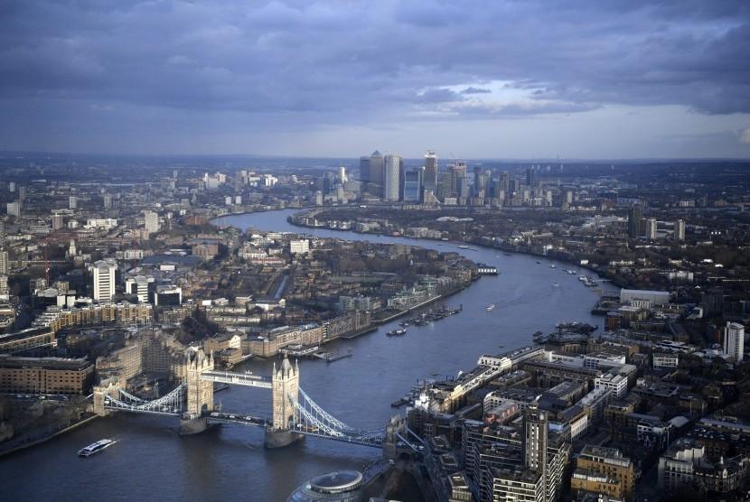 Lansekap kota London, Inggris (ilustrasi)