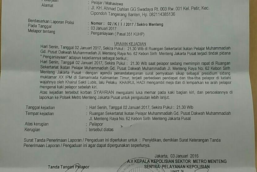 Kader Ikatan Pelajar Muhammadiyah Dianiaya Republika Online