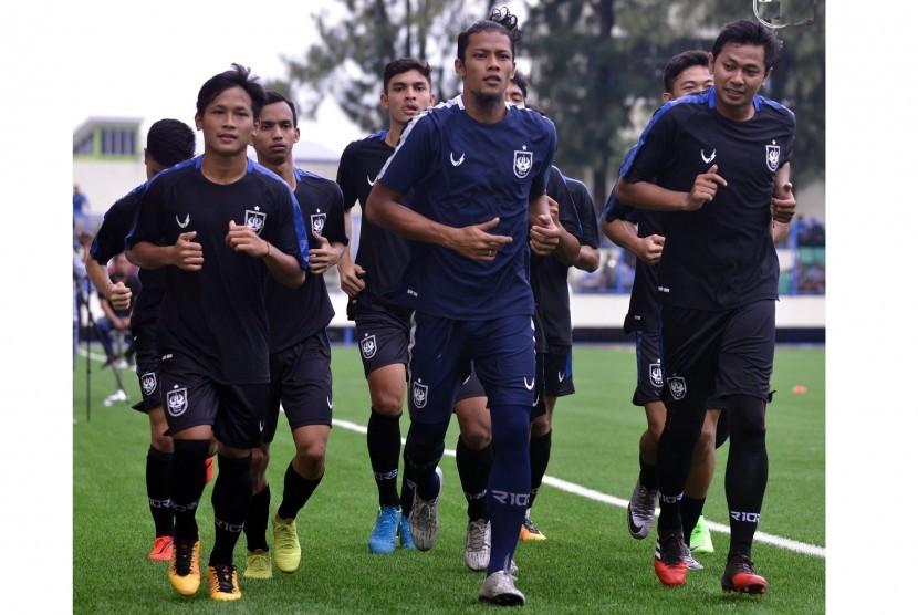 Latihan PSIS Semarang pada Kamis (30/1).