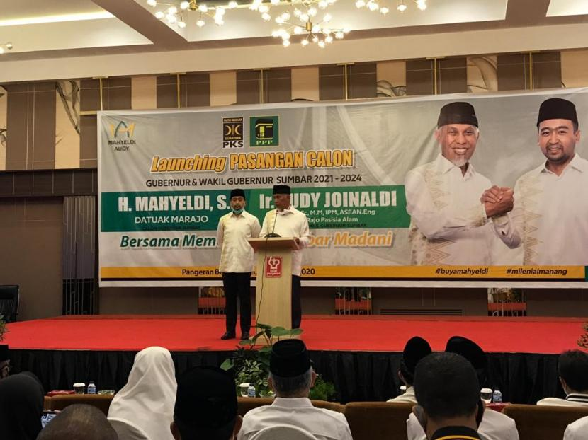 Pasangan calon gubernur dan wakil gubernur Sumbar 2021-2024, Mahyeldi-Audy Joinaldi mengklaim memenangkan ajang Pilgub Sumbar.