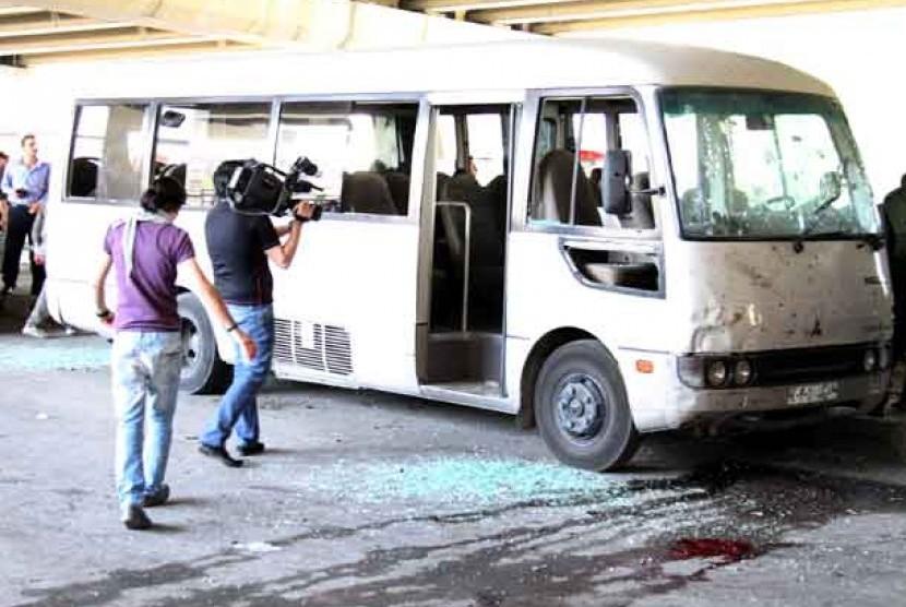 Ledakan bom di Damaskus, Suriah, Jumat (27/4)