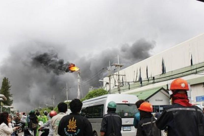 Ledakan di Pabrik Kimia Korea Selatan