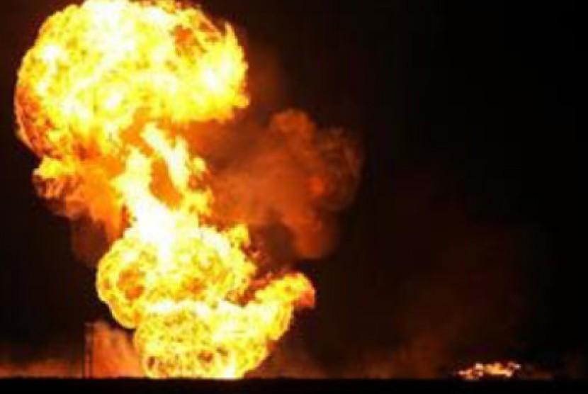 Ledakan pipa gas di China menewaskan 25 warga. Ledakan Gas (ilustrasi)
