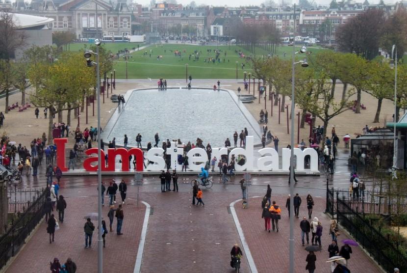 Amsterdam. Ilustrasi.