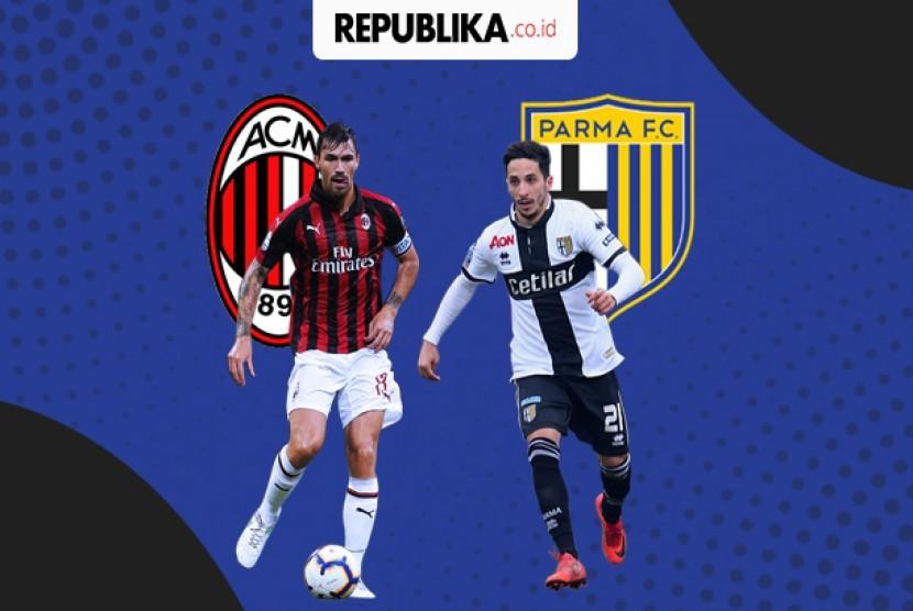Liga Italia, AC Milan vs Parma.