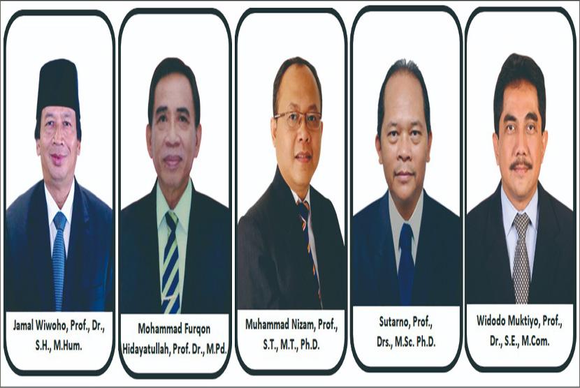 Lima guru besar (gubes) ditetapkan sebagai Bakal Calon Rektor Universitas Sebelas Maret (UNS) Solo. Kelimanya dinyatakan lolos seleksi administrasi dalam Proses Seleksi dan Pemilihan Rektor UNS periode 2019-2023.