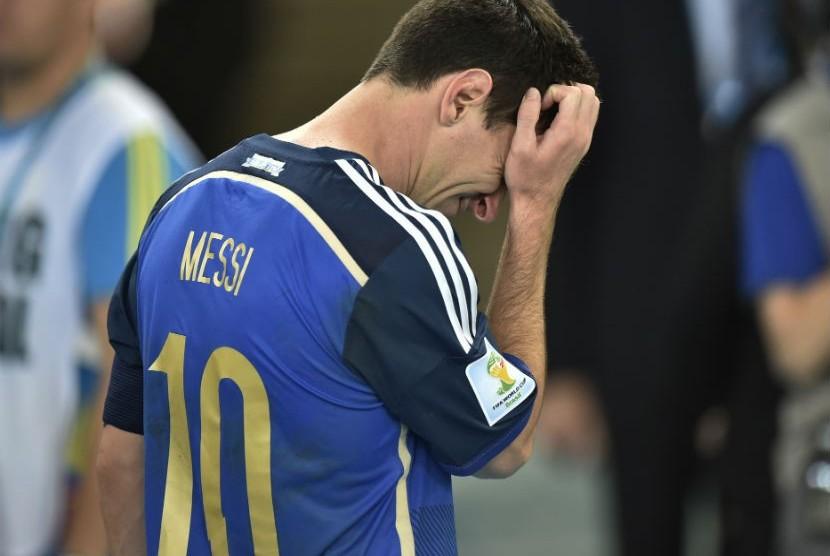 Lionel Messi kecewa dengan kekalahan Argentina