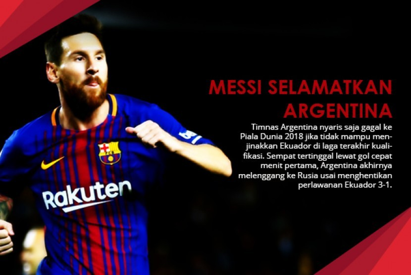 Lionel Messi Sang Pahlawan Argentina.