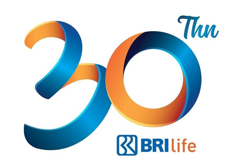 Logo 30 tahun BRI Life