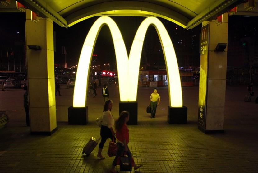 Logo restoran cepat saji McDonald's.