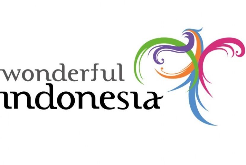 Logo Wonderful Indonesia. Kemenparekraf berkerja sama dengan 15 mitra baru melakukan co-branding dan promosi wisata Indonesia.