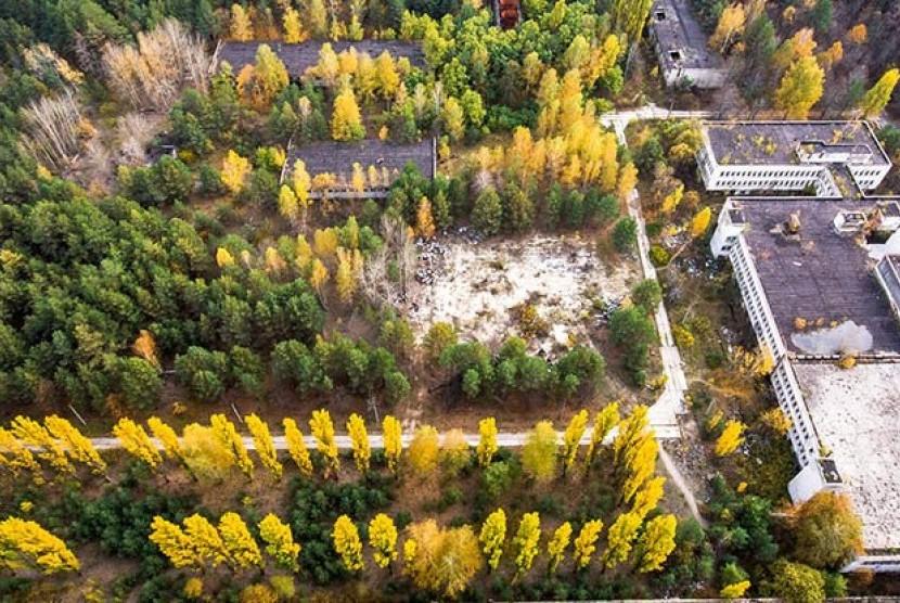 Lokasi bekas ledakan Chernobyl.
