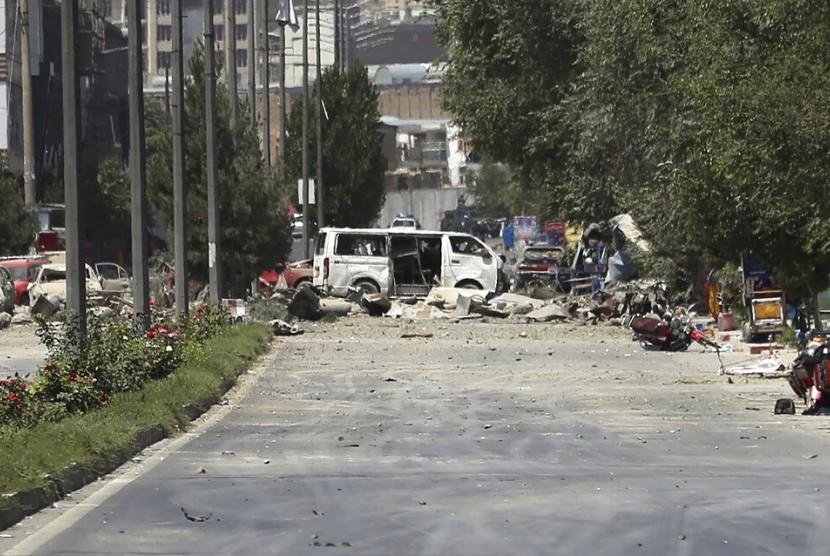 Lokasi ledakan di Kabul, Afghanistan