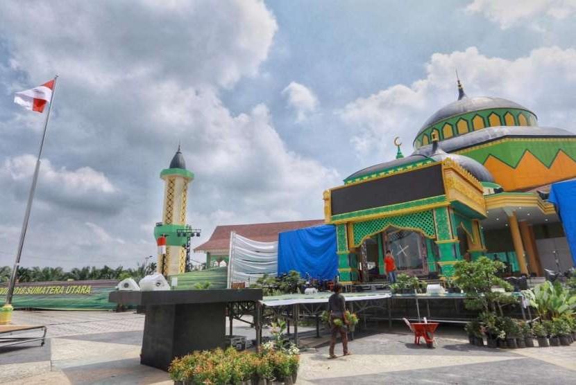 Lokasi perhelatan pembukaan MTQ Nasional ke-27 di Astaka, Jalan Pancing, Medan.