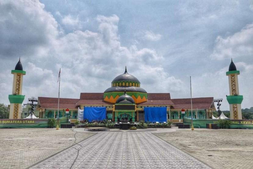 Lokasi perhelatan pembukaan MTQ Nasional ke-27 di Astaka, Jalan Pancing, Medan, Sumatra Utara.