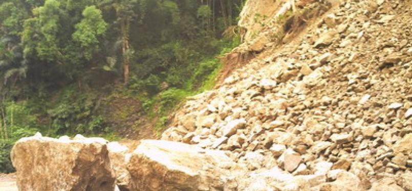 Longsoran bukit (ilustrasi)
