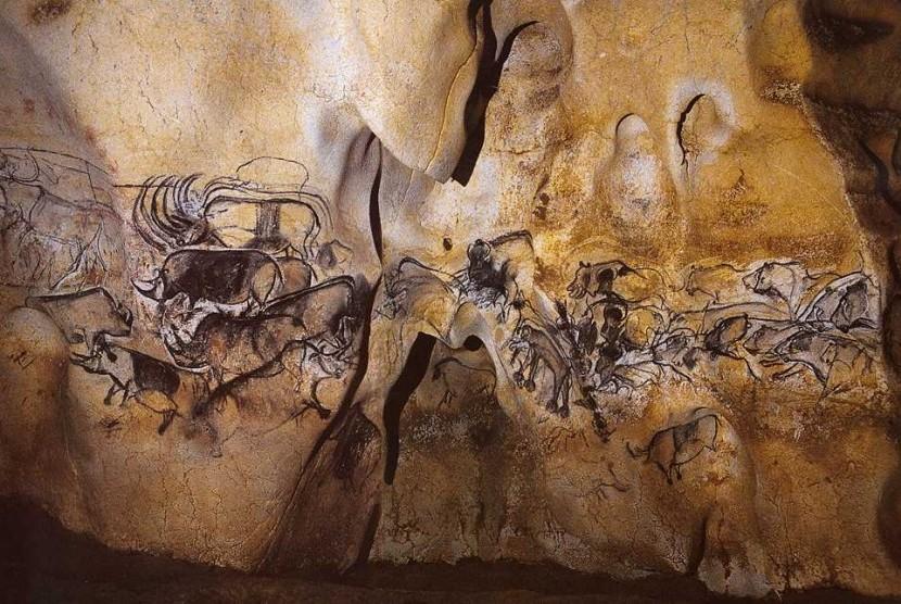Lukisan dalam gua (ilustrasi)