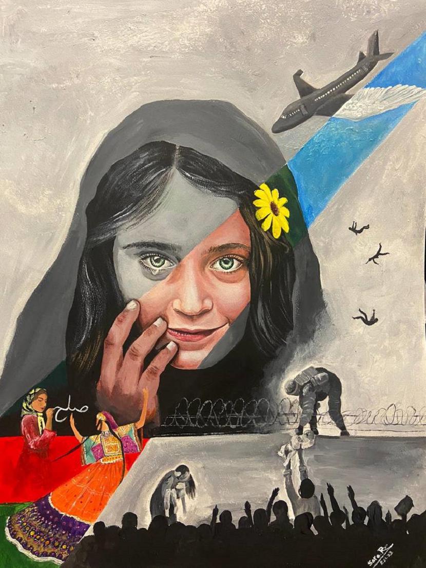 lukisan Gadis Afghanistan yang Menangis