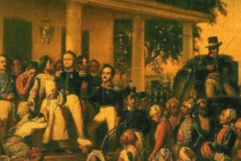 Lukisan Raden Saleh yang berjudul Penangkapan Diponegoro.