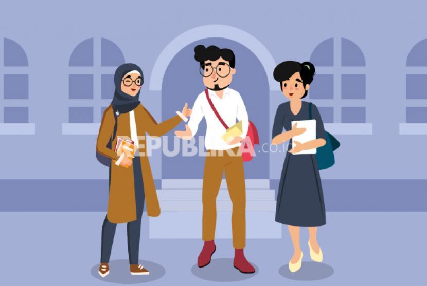 Lembaga Pengelola Dana Pendidikan (LPDP) menilai pengembangan sumber daya manusia (SDM) masih menjadi tantangan bagi Indonesia untuk dapat bersaing dengan negara di dunia. (Ilustrasi Mahasiswa Merdeka)