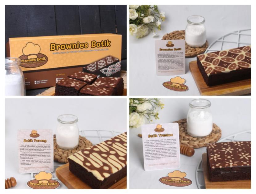Mahasiswa Pendidikan Teknik Informatika (PTI) Fakultas Keguruan dan Ilmu Pendidikan (FKIP) Universitas Muhammadiyah Surakarta (UMS) mengenalkan berbagai macam motif batik melalui kue brownies.