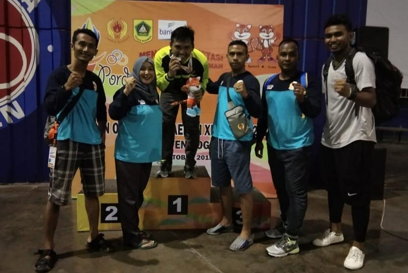 Mahasiswa UBSI meraih medali Perak di Porda XIII Jawa Barat 2018.
