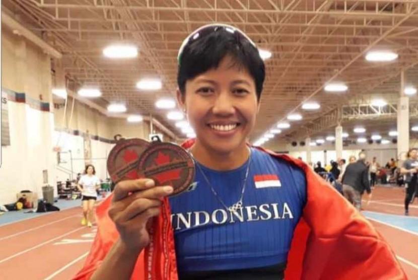 Mahasiswi Program Doktoral UNJ sekaligus atlet Lari Gawang Nasional, Dedeh Erawati.
