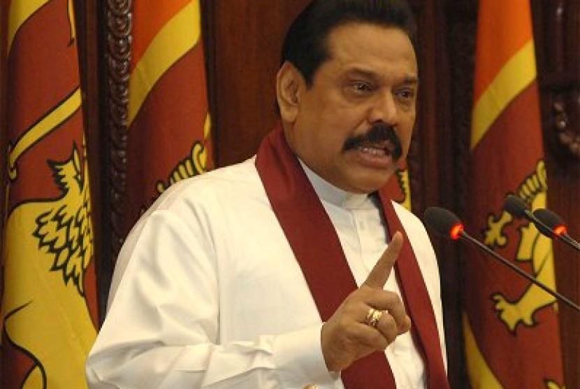 Mahinda Rajapaksa, Presiden Srilanka