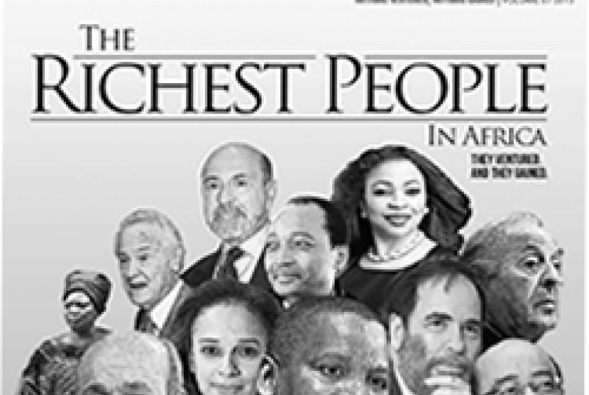 Majalah Ventures yang mencatat 55 miliarder dari Afrika.