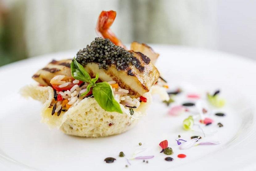 Makanan di restoran yang mendapat predikat bintang Michelin (ilustrasi)