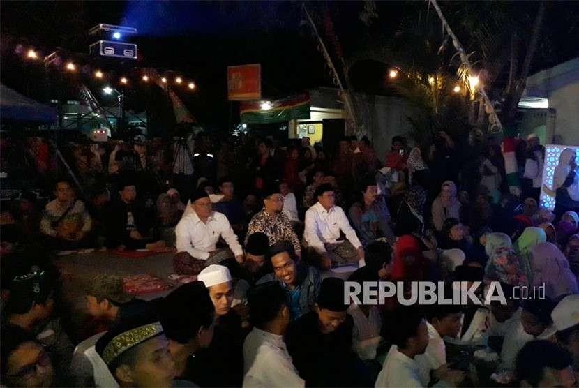Malam Kebudayaan Pesantren di Panggung Krapyak, Kabupaten Bantul,  DIY, Rabu (10/10).