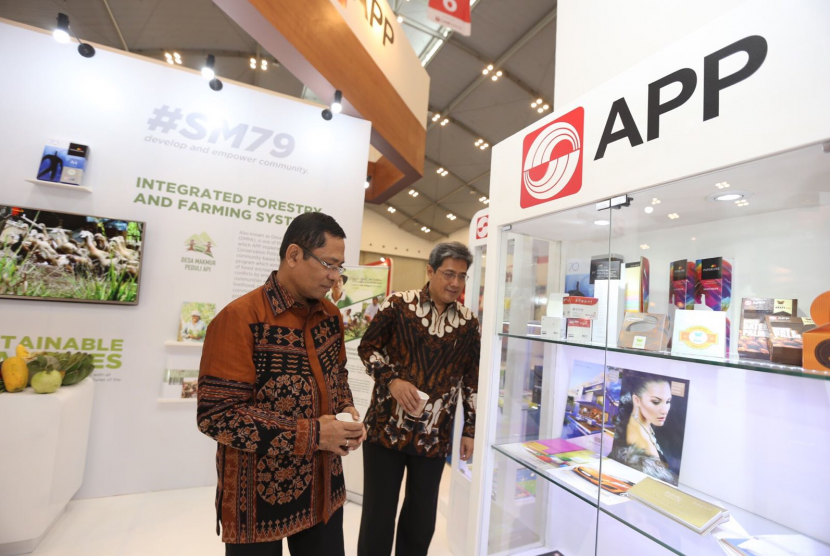Managing Director Sinar Mas Group Saleh Husin di ajang Trade Expo Indonesia (TEI) 2017 di ICE BSD, Tangerang Selatan, Rabu (11/10).