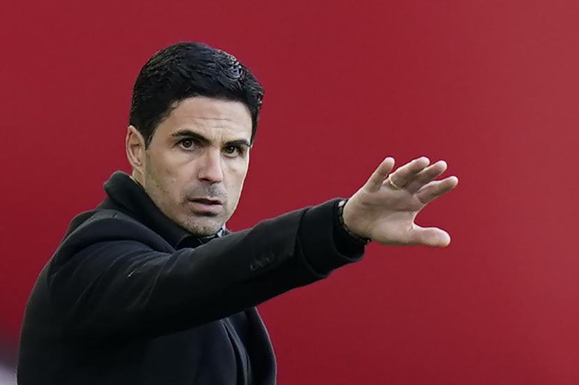 Pelatih Arsenal Mikel Arteta.
