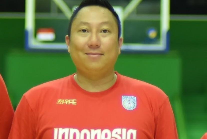 Manajer timnas basket putra Indonesia Maulana Fareza Tamrella.