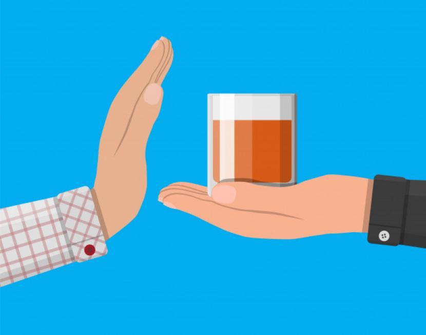 Konsumsi alkohol meningkatkan risiko strok hingga 35 persen (ilustrasi).