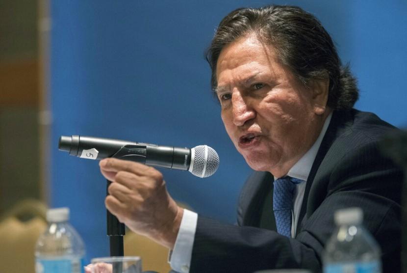 Mantan presiden Peru, Alejandro Toledo