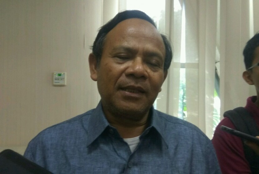 Mantan Rektor UIN Jakarta, Profesor Komarudin Hidayat di Kantor Kemenag, Rabu (20/3).